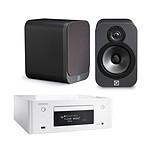 Denon CEOL N9 Blanc + Q Acoustics 3020 Graphite
