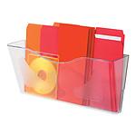 deflecto Docupockets 297 Clasificador de pared 1 caja transparente