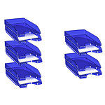 CEP Lot de 10 corbeilles à courrier Happy Bleu électrique