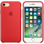 Apple Coque en silicone Rouge Apple iPhone 7