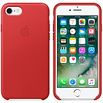 Apple Coque en cuir Rouge Apple iPhone 7