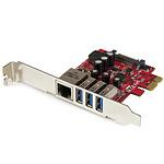 StarTech.com Carte PCI Express à 3 ports USB 3.0 et 1 port Gigabit Ethernet avec UASP