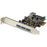 StarTech.com Carte contrôleur PCI-E (4 ports USB 3.0 Type-A - 1 interne et 3 externes)