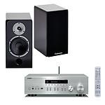 Yamaha MusicCast R-N402D Argent + Cabasse Antigua MT32 laquée noire