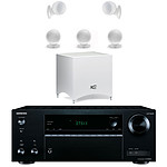 Onkyo TX-NR555 Noir + Cabasse Alcyone 2 Pack 5.1 Blanc