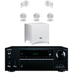 Onkyo TX-NR656 Noir + Cabasse Alcyone 2 Pack 5.1 Blanc