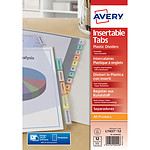 Avery intercalaire polypropylène A4+ à onglets personnalisables 12 touches