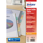 Avery intercalaire polypropylène A4+ à onglets personnalisables 6 touches