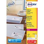 Avery Etiquettes adresses Faciles à décoller 99,1 x 38,1 mm x 1400