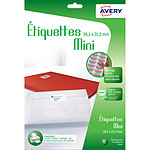 Avery Etiquetas autoadhesivas Mini 38,1 x 21,2 mm x 780
