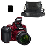 Nikon Coolpix B700 Rouge + CS-P08 + Carte SDHC 8 Go