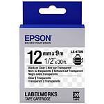 Epson LK-4TBN negro/transparente
