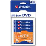 Verbatim DVD-R 1.46 Go certifié 4x (pack de 3, boitier slim)