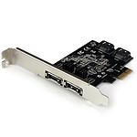 StarTech.com Carte contrôleur PCI-E avec 2 ports SATA III interne et 2 ports eSATA externe