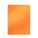Leitz WOW Cahier Spirale 160p A4 petits carreaux Orange