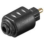 Adaptador macho Toslink / conector hembra de 3,5 mm