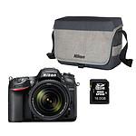 Nikon D7200 + Objectif VR 18-140 mm + CF-EU11 + Carte SDHC 16 Go
