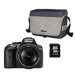Nikon D5300 + AF-S DX NIKKOR 18-140MM + CF-EU11 + Carte SDHC 16 Go