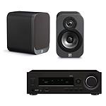 Onkyo R-N855 Noir + Q Acoustics 3010 Graphite