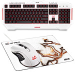 ASUS Cerberus Keyboard + Mouse + Mouse Pad (Arctic)