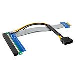 Adaptateur horizontal (riser) PCI-Express 1x vers 16x