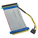 Adaptateur horizontal (riser) PCI-Express 16x - Nappe 190 mm