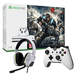 Microsoft Xbox One S (1 To) + Gears of War 4   2 Accessoires OFFERTS !