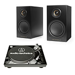 Audio-Technica AT-LP120USBC Noir + Triangle Elara LN01A Noir mat