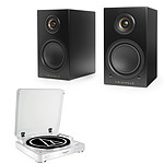 Audio-Technica AT-LP60BT Blanc + Triangle Elara LN01A Noir mat