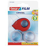 tesa Film Crystal 2 rollos 10m x 19mm + 1 Mini Desbobinador