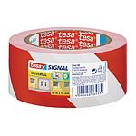 tesa cinta adhesivo de señalización Rojo/Blanco