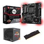 Kit Upgrade PC AMD Ryzen 5 1600 MSI B350M MORTAR 8 Go
