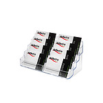 deflecto Porte-cartes de visite transparent 2 x 4 compartiments