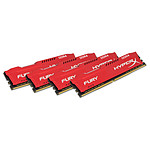HyperX Fury Rouge 64 Go (4x 16 Go) DDR4 2400 MHz CL15
