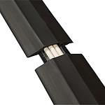 D-Line passe-câble de plancher souple avec raccords (noir)