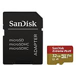 SanDisk Extreme Plus microSDHC UHS-I U3 V30 A1 32 GB + adaptador SD