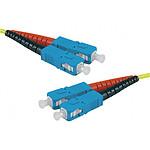 Câble fibre optique duplex monomode OS2 9/125 SC-UPC/SC-UPC (30 mètres)