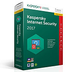 Kaspersky Internet Security 2018 Mise à jour - Licence 3 postes 1 an