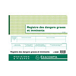 Exacompta Registre des Dangers Graves et Imminents