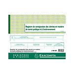 Exacompta Registre de consignation des alertes en matière de santé publique et d'environnement