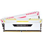 Corsair Vengeance RGB Series 32 Go (2x 16 Go) DDR4 3200MHz CL16 - Blanc