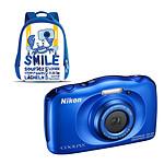 Nikon Coolpix W100 Bleu + Sac à dos