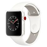 Apple Watch Edition Series 3 GPS + Cellular Céramique Blanc Sport Coton 42 mm