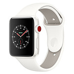 Apple Watch Edition Series 3 GPS + Cellular Céramique Blanc Sport Coton 38 mm
