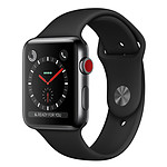 Apple Watch Series 3 GPS + Cellular Acier Noir Sport Noir 38 mm