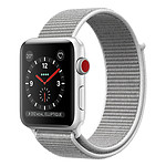 Apple Watch Series 3 GPS + Cellular Aluminium Argent Sport Coquillage 38 mm