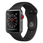 Apple Watch Series 3 GPS + Cellular Aluminium Gris Sport Noir 42 mm