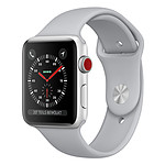 Apple Watch Series 3 GPS + Cellular Aluminium Argent Sport Nuage 38 mm