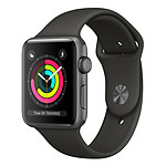 Apple Watch Series 3 GPS Aluminium Gris Sport Gris 38 mm