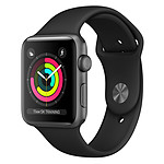 Apple Watch Series 3 GPS Aluminium Gris Sport Noir 38 mm